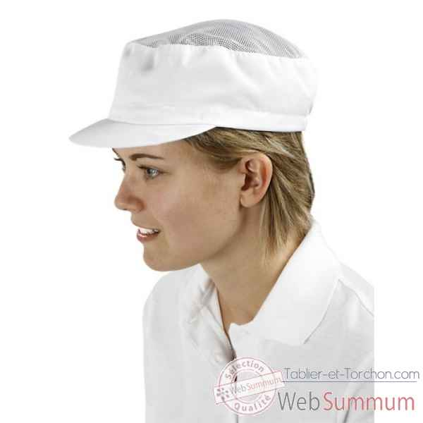 Casquette maille aeree, serge polyester 250 g/m², coloris blanc Creation talbot -PM248