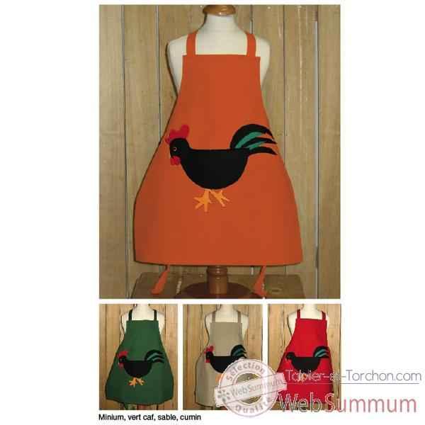 tablier torchon tablier de cuisine enfant coq application tabe2387cumin de cuisine. Black Bedroom Furniture Sets. Home Design Ideas
