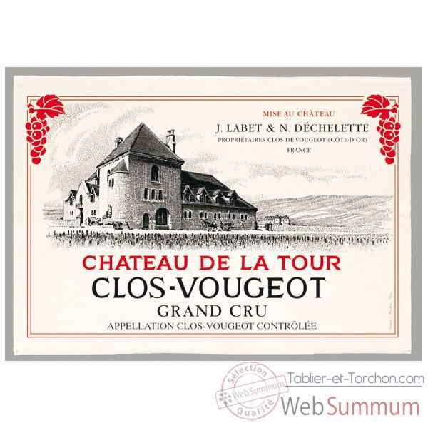 Video Torchon imprime Chateau de la Tour - Clos-Vougeot -1135