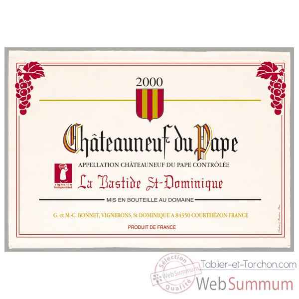 Video Torchon imprime Chateauneuf du Pape -1157