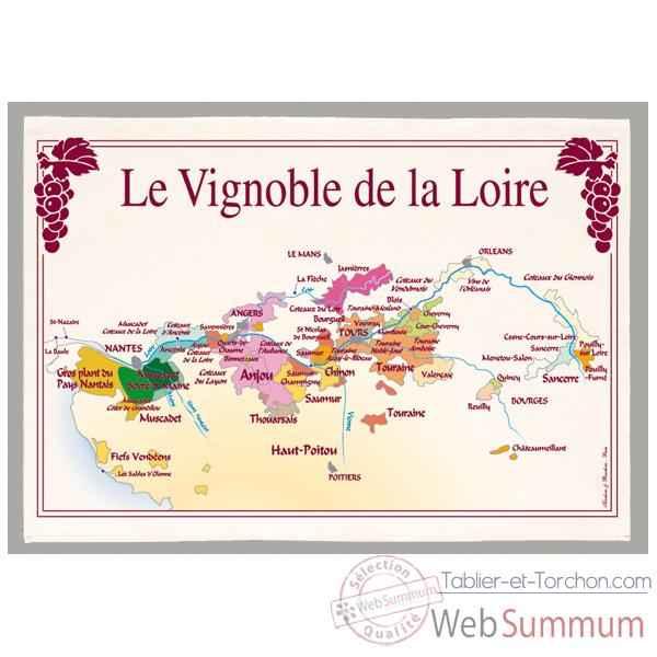 Video Torchon imprime vignoble de la Loire -1186